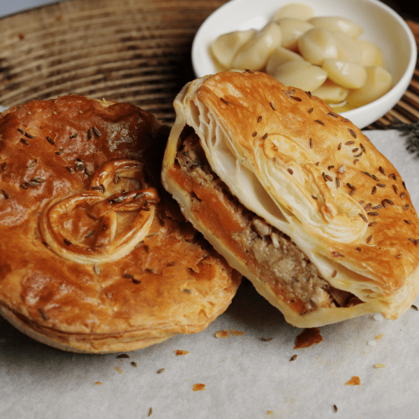German meat pastry,Bavarian Slow Cooked Pork Pie with Sweet Potato